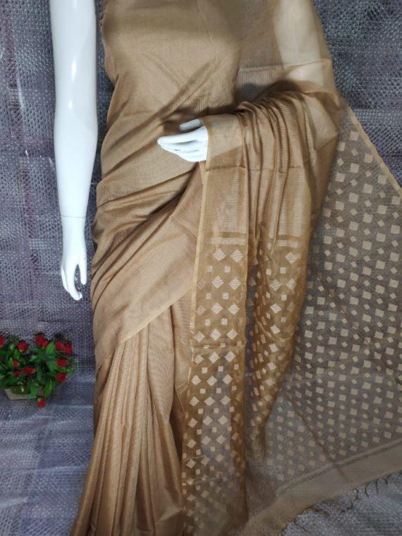Light Brown Kota Silk Saree