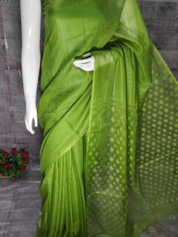 Mehendi Green Kota Silk Saree