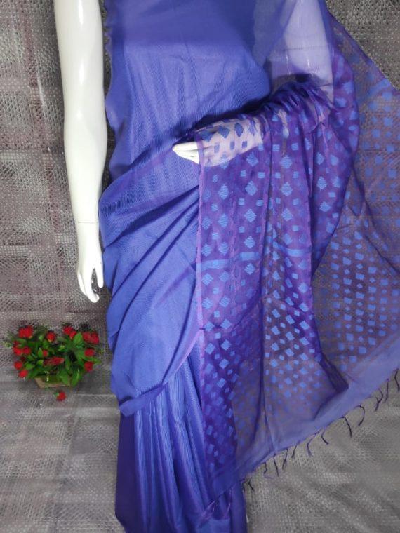 Royal Blue Kota Silk Saree