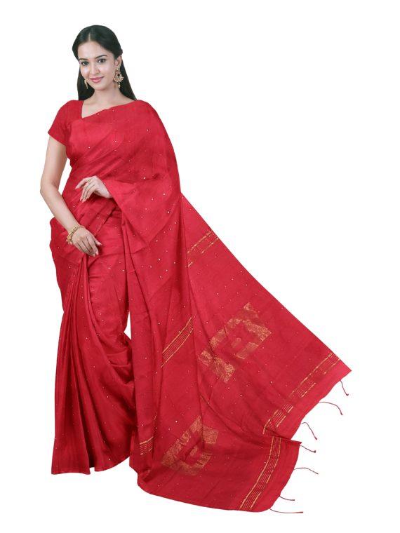 loomfolks__Sequece-Cotton-Silk_RedSequenceSaree__silk_set3_pujitha_front__2020-1-1-16-30-38__3072X4096