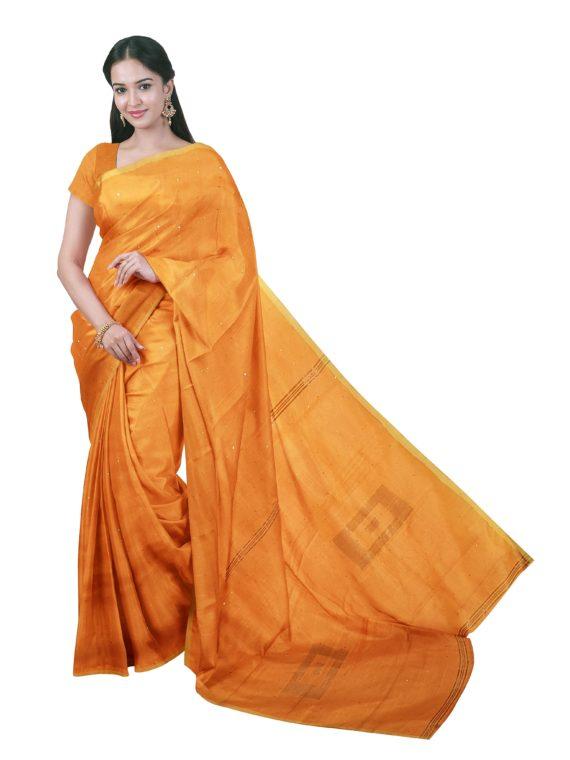 loomfolks__Sequece-Cotton-Silk_YellowSequenceSaree__silk_set3_pujitha_front__2020-1-1-16-37-25__3072X4096