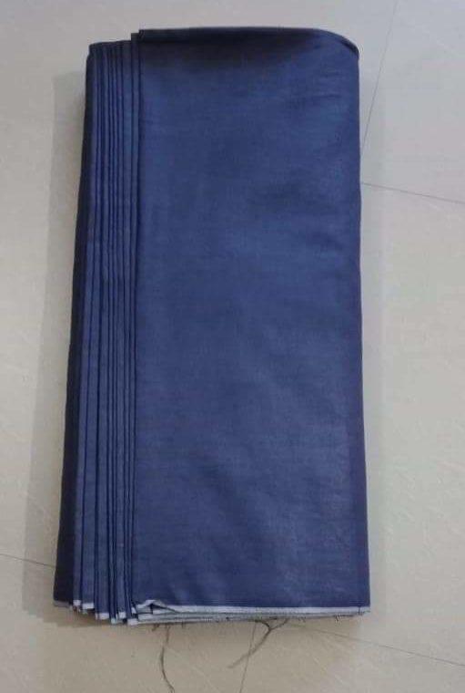 Dark Blue Linen Fabric by Meter