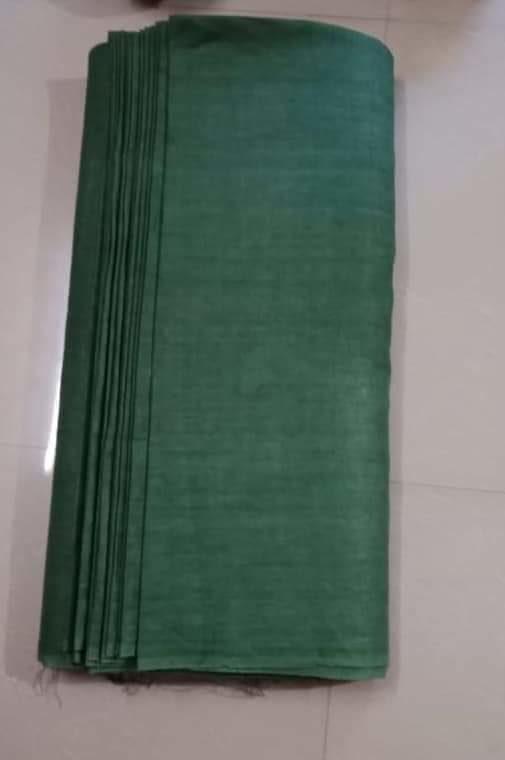 Dark Green Linen Fabric by Meter