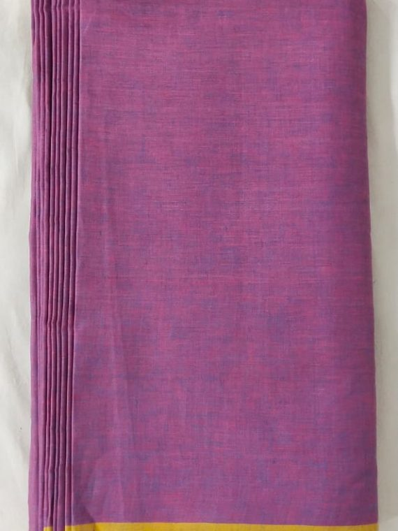Purple Yellow Linen Fabric by Meter