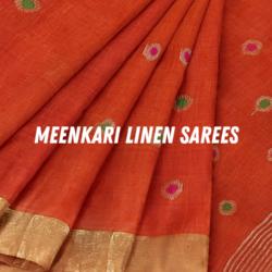 meenakari linen sarees loomfolks