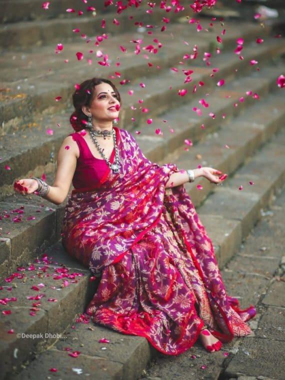 handloom wedding saree