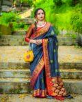 Linen Banarasi Sarees
